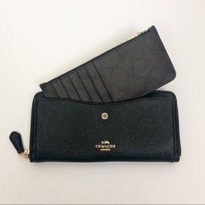 COACH Wallet | Accordion zip | black